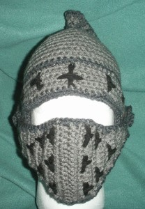 Crochet Knight Helmet